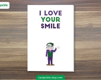 Why so serious etsy download printable card i love you card the joker happy birthday happy bookmarktalkfo Gallery