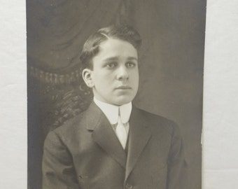 Vintage Photo of a young man in a suit