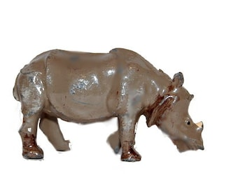 1930s Britains 960 Baby Rhinoceros in Lead