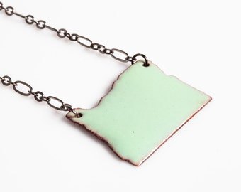 Oregon Enamel on Copper Necklace