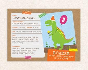 Dinosaur Invitation, Dinosaur Birthday, Dinosaur Birthday Invitation, Dinosaur Printable Invitation, Dinosaur Party