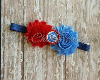 Tennessee Titans elastic infant, toddler, or adult sized headband