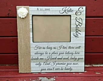 Personalized Song Lyric Picture Frame | Wedding Song Picture Frame | Custom Lyrics Frame