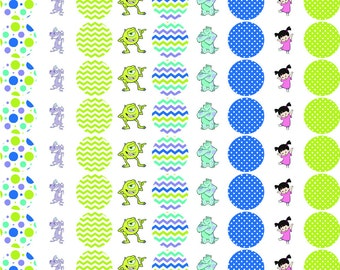Monster Inc Stickers for Hershey Kisses Personalized