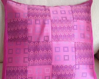 Cushions, Silk Cushion Covers, Patchwork Cushion Cover, Sudbury Silk, Home Decor, Envelope Back Cushion Covers
