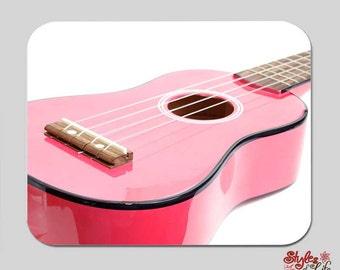 Pink Guitar Music Girls Computer Mousepad