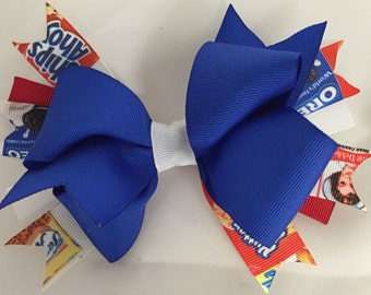 Assorted Cookies ribbon  Hair Bow