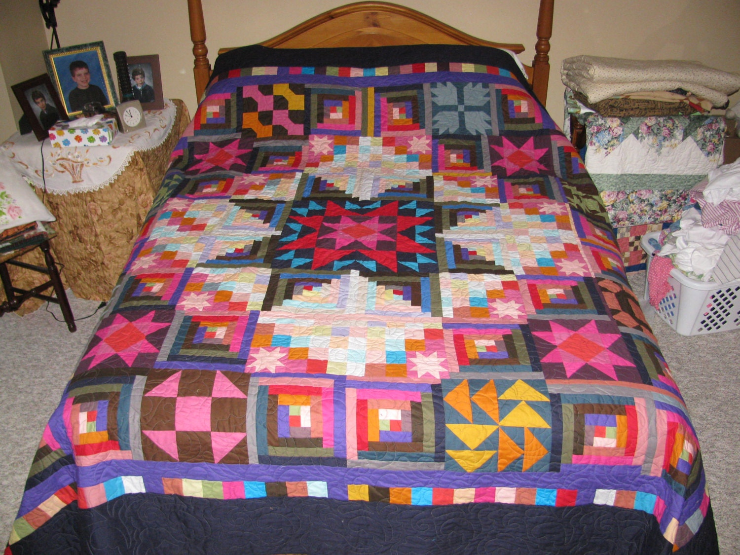 king size handmade quilts this king size bed quilt is called amish with a 6037