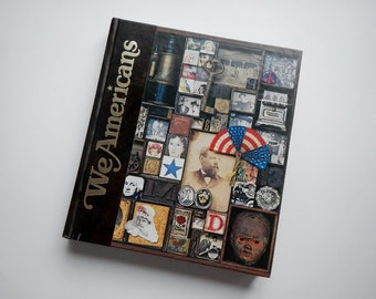 """Vintage Book """"We Americans"""" - oversized - 1975 - historical, illustrated, coffee table book, National Gregraphic photos, photo-journalist"""