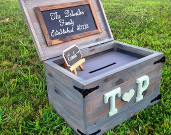 Rustic Wedding Card Trunk