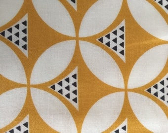 Gold with petals and tiny triangles from V and Company for Moda Fabrics from Color Theory