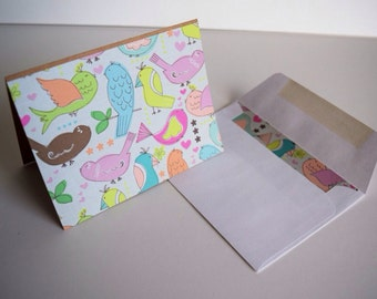 Baby Bird Notecards - Greeting Cards - Thank You Cards - New Baby Cards - Set of 4