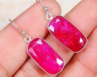 Earrings sterling silver .925 Ruby