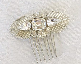 Lilium ~ Art Deco inspired Swarovski crystal Bridal Comb