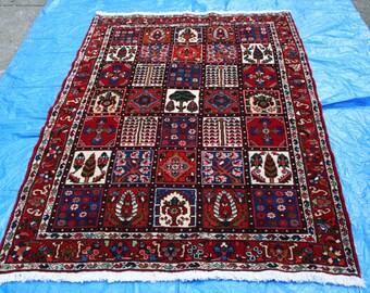 "6' 4"" x 4' 6 1/2"" Bakhtiari Persian Garden Pattern Rug   A33"