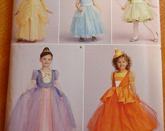 Simplicity 1303 Drake and Ferris Toddler Childs Princess Costumes Halloween Dress Up Pattern Brand New Uncut Sizes 3-6