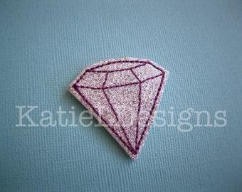 ITH Diamond Feltie Machine Embroidery Design Pattern Download Gem In The Hoop Felties