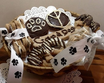 Dog Gift Basket - Gourmet Peanut Butter