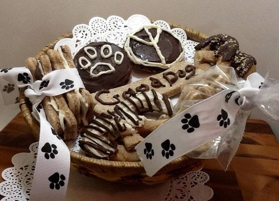 Etsy Dog Gift Baskets : Items similar to dog gift basket gourmet peanut butter