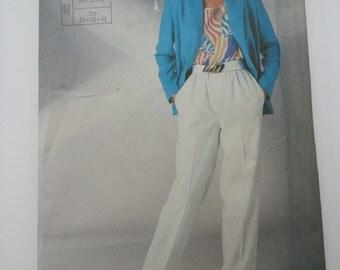 80s jacket blazer / summer suit /elastic waist pants /loose jacket /1986 vintage sewing pattern, Size 10 12 14,Bust 32 34 36,Simplicity 7570