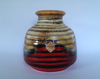 Scheurich  293  -  16   Vintage  ceramic ball vase 1980s West Germany. WGP.