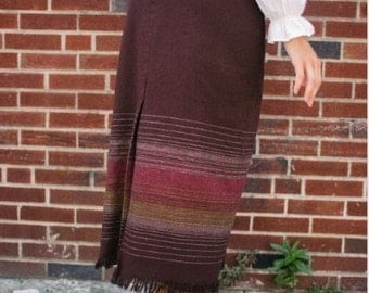 Vintage Wool Fringed Skirt