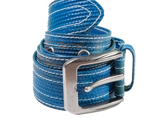 Upcycled Blue Belt Similar to Fire Hose