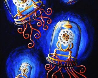 Steampunk Jellyfish PRINT