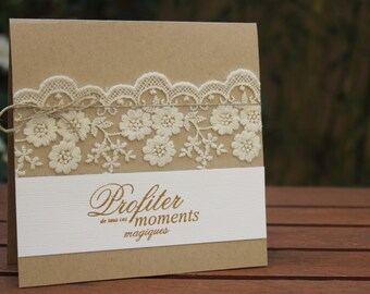 Announcements range country chic wedding
