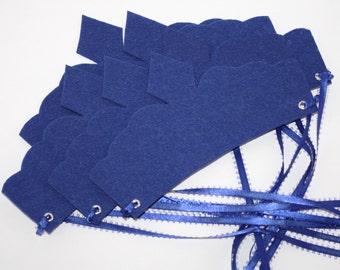 Blue Princess Party Crowns, Tea Party Favors-Set of 6-24