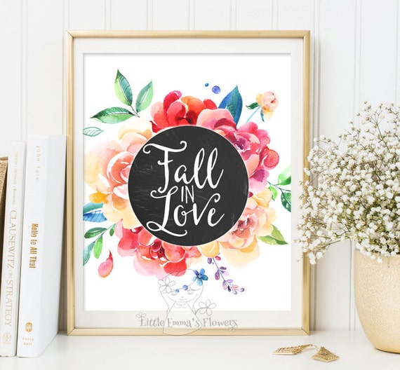 fall is love quotes thanksgiving print fall decor motivational