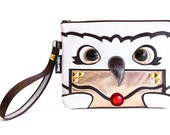 Owl Post Clutch Bag With Wristlet   Hogwarts Harry Potter Hedwig Inspired Purse   Geek Chic