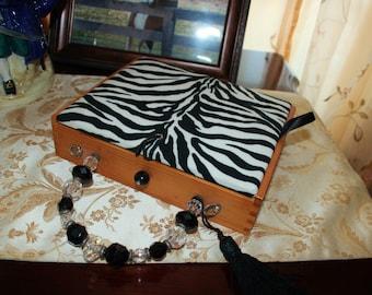 Zebra Print Purse Vintage Cigar Box
