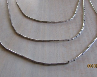 Three Strand Liquid Silver Cascading Necklace