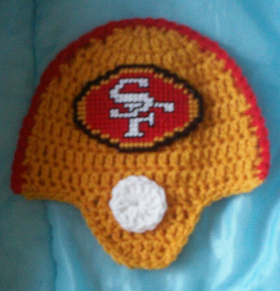 Crochet 49ers Football Team Helmet Potholder Pattern Only