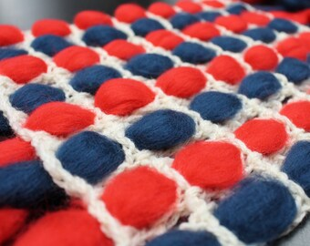 American flag blanket, knit wool throw, american home decor, wool throw, 4th of july ideas, Independence Day, USA flag throw, porch decor,