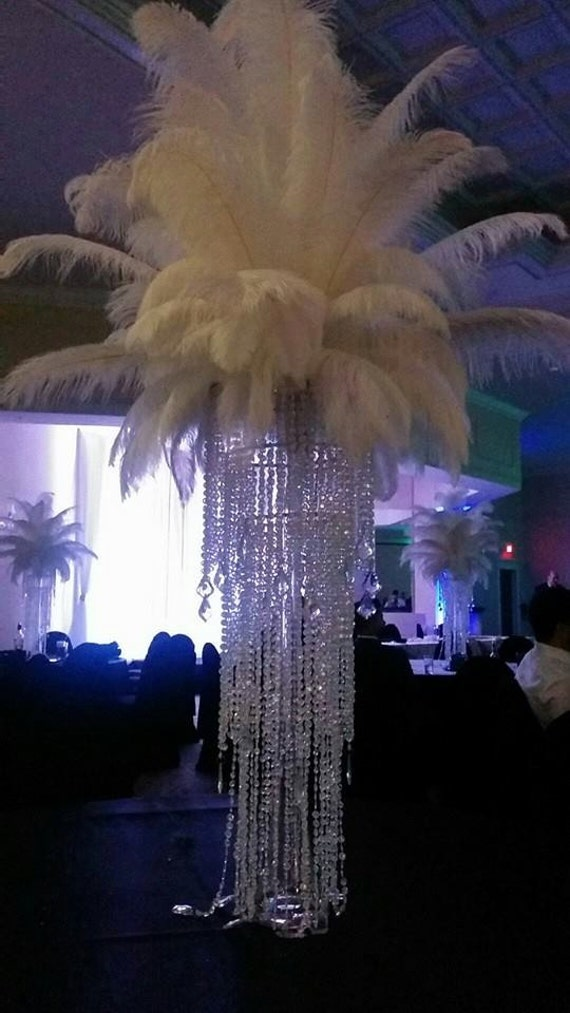 Ft tall deluxe eiffel tower chandelier ostrich feather