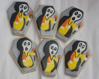 Skeleton Halloween cookies