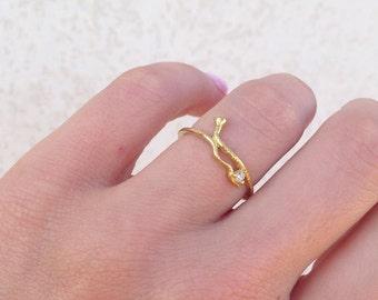 20% off- SALE!! Snake Ring - Gold Ring - Stacking ring - Animal Ring - Gold Snake Ring - Thin Ring - Simple Ring