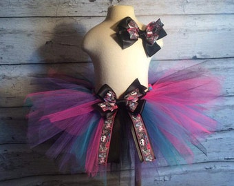 Handmade Monster High Tutu With Matching Hair Bow