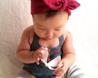 Rasberry Knot - hairband for babies, kids, girls, women.