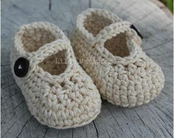 CROCHET BABY SHOES Pattern Crochet Mary Jane Shoes Pattern Crochet Baby Slippers Pattern Crochet Baby Booties Pattern