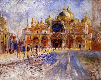 The Piazza San Marco by Pierre-Auguste Renoir, various sizes, Giclee Canvas Print