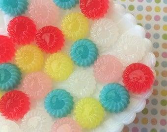 Colorful Fake Candy Cabochon Mix - 5 Pcs - Jelly Candy Cabochons