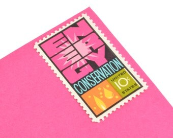 25 Energy Conservation Postage Stamps! - 10c - Vintage 1974 - Unused - Quantity of 25