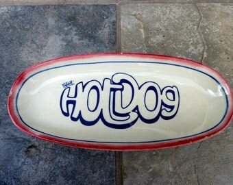 Hotdog vintage plate, by Baldelli of Italia, Hot Dog