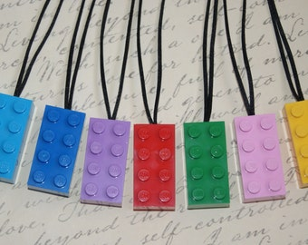 Party favor necklaces - Made from New LEGO (r) Pieces