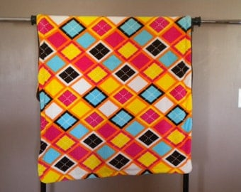 Argyle Fleece Blanket--Lap size