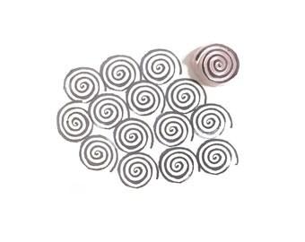 Swirl Texture Rubber Stamp   018108