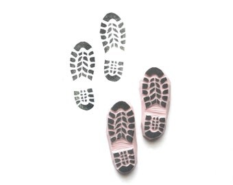 Shoe Print Rubber Stamp | 008050